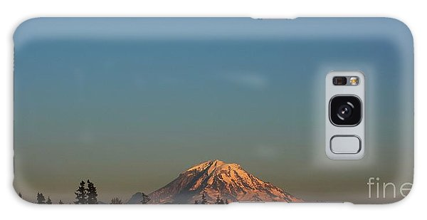 The Moon And Mt. Rainier Galaxy Case by Gayle Swigart