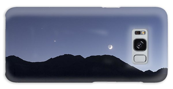 The Moon And Venus Over The Sierras Galaxy Case