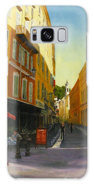 The Morning's Shopping In Vieux Nice Galaxy Case by Connie Schaertl