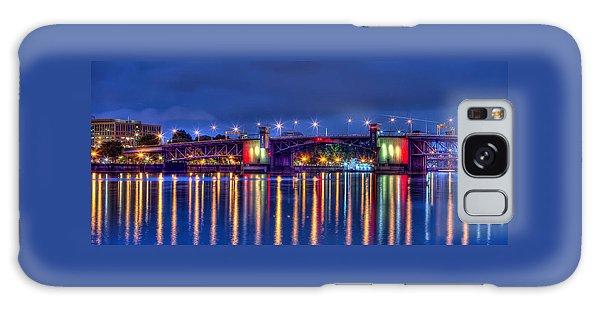 Morrison Bridge Reflections Galaxy Case by Thom Zehrfeld