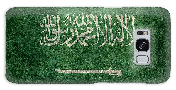 The National Flag Of  Kingdom Of Saudi Arabia  Vintage Version Galaxy Case