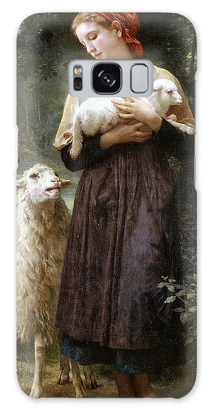 Sheep Galaxy S8 Case - The Newborn Lamb by William Bouguereau
