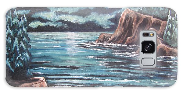 The Ocean's Quiet Beauty Galaxy Case by Cheryl Pettigrew