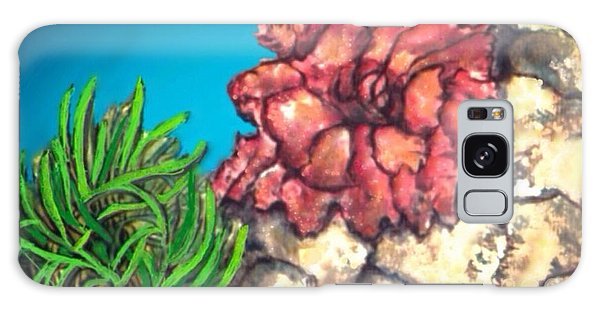 The Odd Couple Two Very Different Sea Anemones Cohabitat Galaxy Case by Kimberlee Baxter