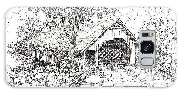 The Old Creamery Bridge Brattleboro Vt Pen Ink Galaxy Case by Carol Wisniewski