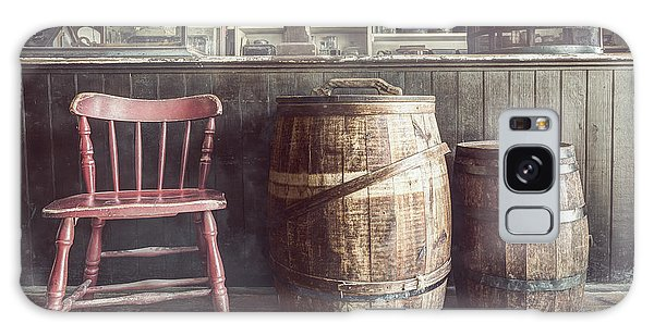The Old General Store - Red Chair And Barrels In This 19th Century Store Galaxy Case