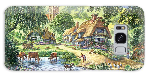 English Countryside Galaxy Case - The Old Pond by MGL Meiklejohn Graphics Licensing