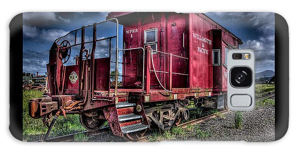 Old Red Caboose Galaxy Case by Thom Zehrfeld