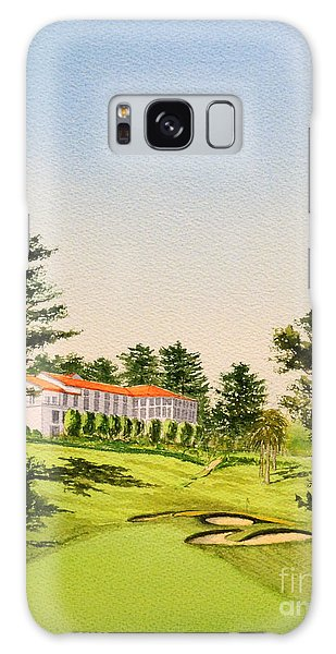 Galaxy Case featuring the painting The Olympic Golf Club - 18th Hole by Bill Holkham