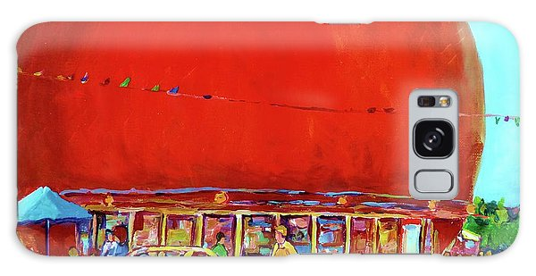The Orange Julep Montreal Summer City Scene Galaxy Case by Carole Spandau