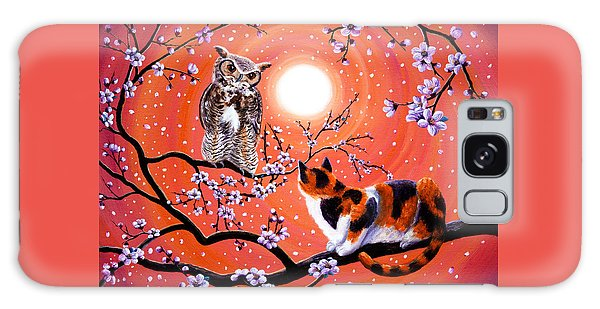 The Owl And The Pussycat In Peach Blossoms Galaxy Case