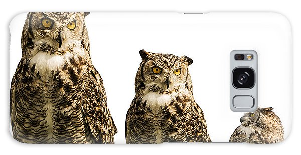 The Owl Trio Galaxy Case