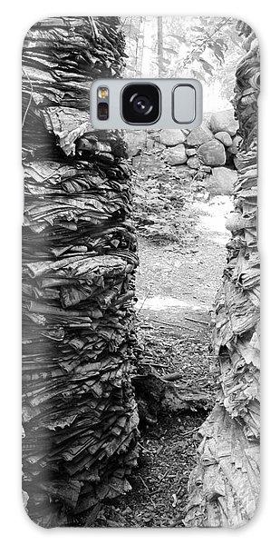 The Paper Crevasse Monochrome Galaxy Case by Barbara Bardzik