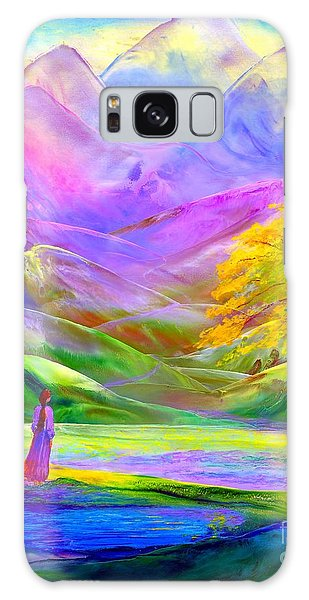 Misty Mountains, Fall Color And Aspens Galaxy Case by Jane Small