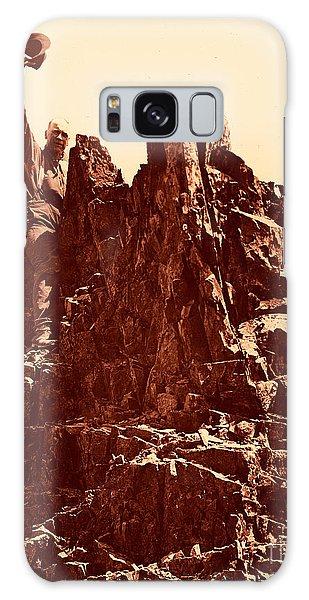 The Photographer On Pinnacle Peak Early 1900 Era Galaxy Case by Eddie Eastwood