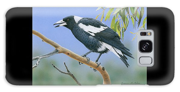 The Pied Piper - Australian Magpie Galaxy Case by Frances McMahon