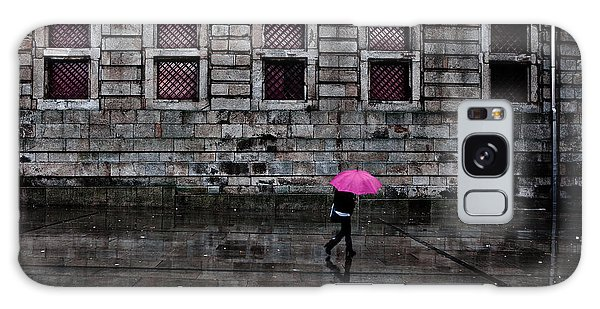 The Pink Umbrella Galaxy Case by Jorge Maia