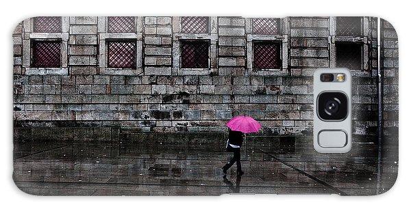 The Pink Umbrella Galaxy Case