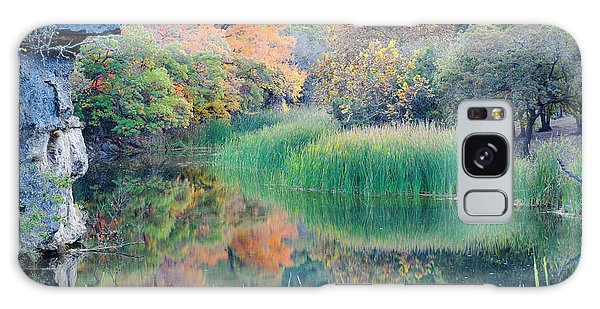 The Pond At Lost Maples State Natural Area - Texas Hill Country Galaxy Case