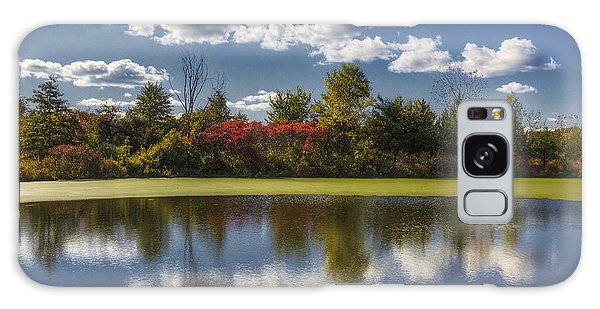 The Pond In Autumn Galaxy Case