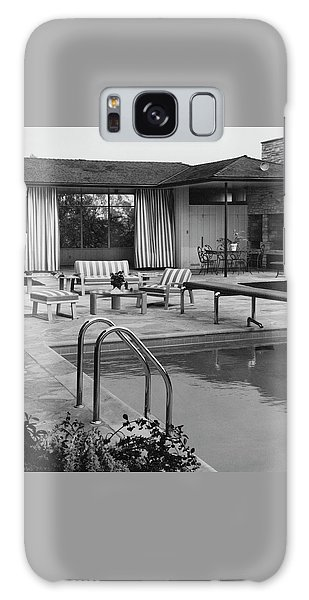The Pool And Pavilion Of A House Galaxy Case