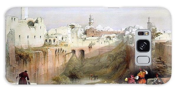 The Pool  Of Bethesda Jerusalem Galaxy Case by Munir Alawi