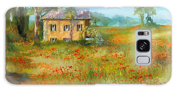 Galaxy Case - The Poppy Fields Of Tuscany Valley by Jane Woodward