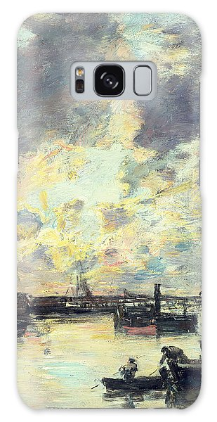 Docked Boats Galaxy Case - The Port by Eugene Louis Boudin