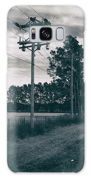 The Power Lines  Galaxy Case by Howard Salmon