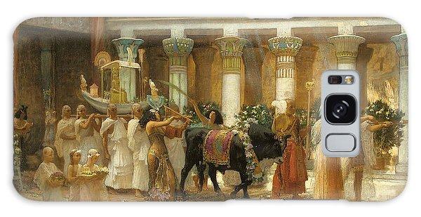 Egypt Galaxy Case - The Procession Of The Sacred Bull by Frederick Arthur Bridgman