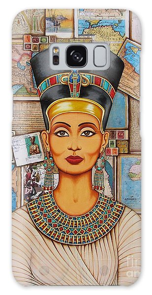 The Queen Of Amarna Galaxy Case by Joseph Sonday