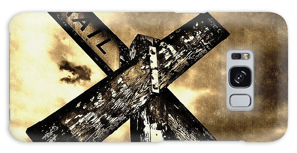 The Railroad Crossing Galaxy Case by Glenn McCarthy Art and Photography