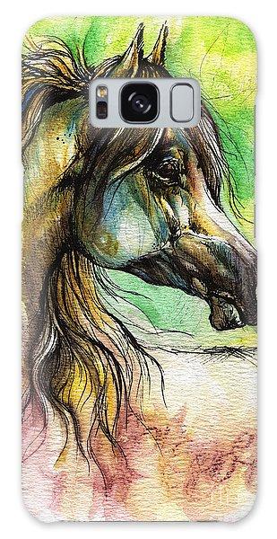 Rainbow Galaxy Case - The Rainbow Colored Arabian Horse by Angel Ciesniarska