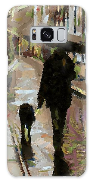 The Rainy Walk Galaxy Case by Dragica  Micki Fortuna