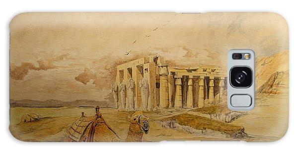 Egypt Galaxy Case - The Ramesseum Theban Necropolis Egypt by Juan  Bosco