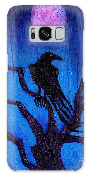 The Raven Nevermore Galaxy Case by Roz Abellera Art