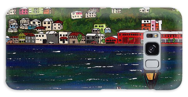 The Red And White Fishing Boat Carenage Grenada Galaxy Case by Laura Forde