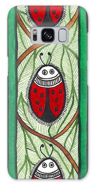 Madhubani Galaxy Case - The Red Lady Bug by Shishu Suman