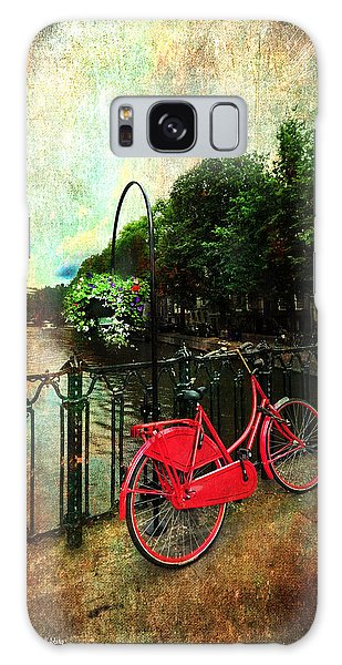 The Red Bicycle Galaxy Case