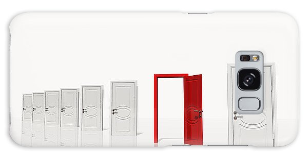 The Red Door Galaxy Case by Bruce Rolff