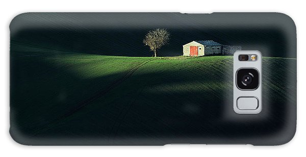 Cottage Galaxy Case - The Red Door by Fiorenzo Carozzi