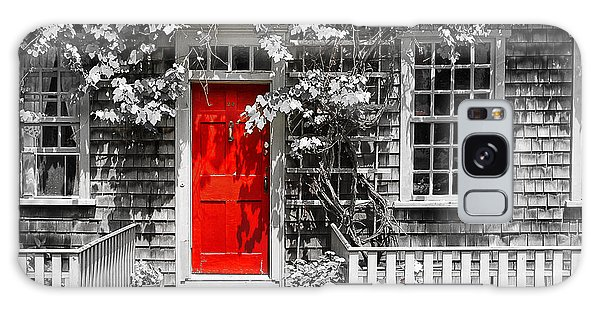 The Red Door Galaxy Case by Sabine Jacobs