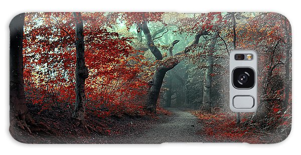 Woods Galaxy Case - The Red Forest by Leif L??ndal