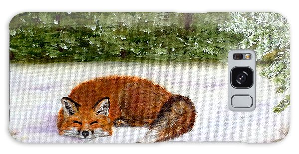 The Red Fox Of Winter Galaxy Case