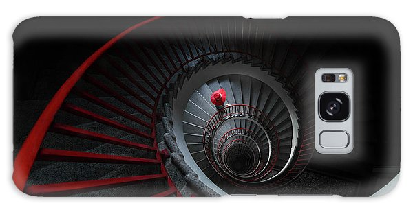 Handrail Galaxy Case - The Red Hat by Mandru Cantemir