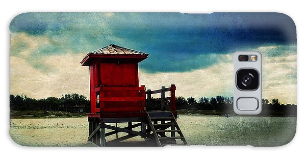 Patina Galaxy Case - The Red Lifeguard Shack by Sandra Selle Rodriguez