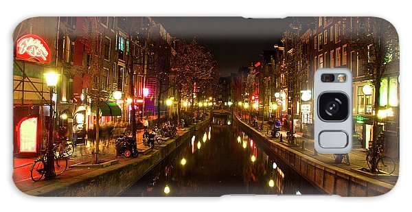 The Red Lights Of Amsterdam Galaxy Case