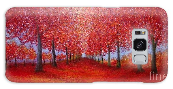 The Red Maples Alley Galaxy Case
