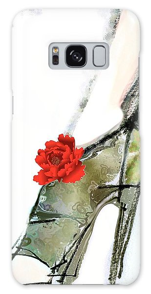 The Red Peony Shoe Galaxy Case