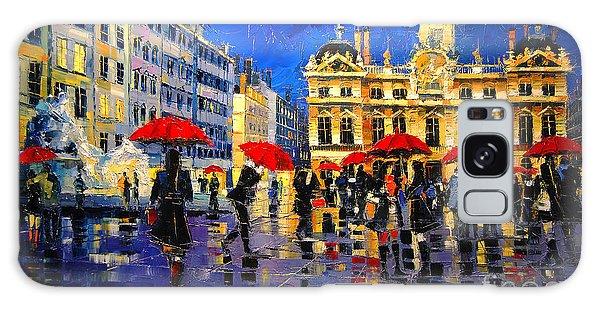 The Red Umbrellas Of Lyon Galaxy Case